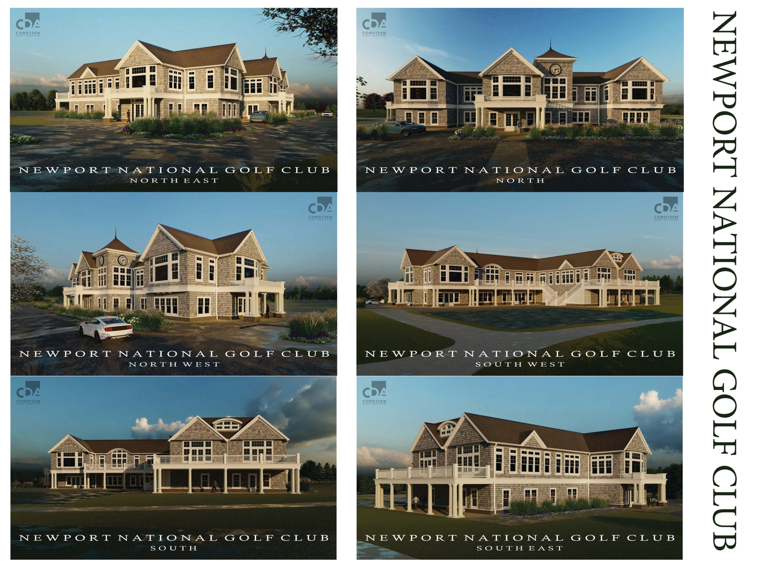Newport National Clubhouse Architectural Renderings